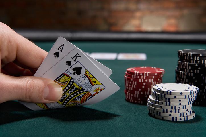 Texas Holdem ace king deal