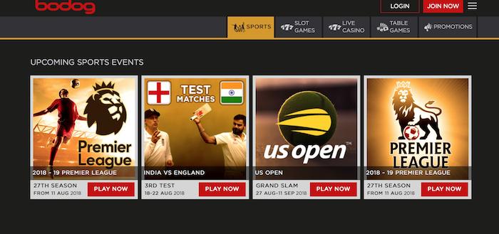 Bodog India Sports