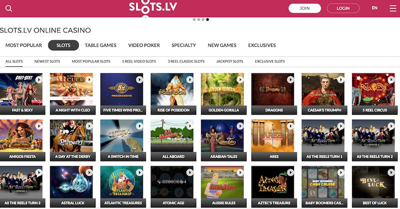 Slots.lv Casino Games