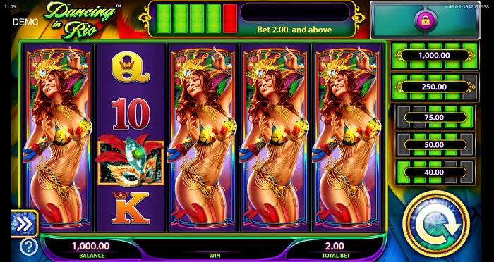 Dancing in Rio Online Slot WMS