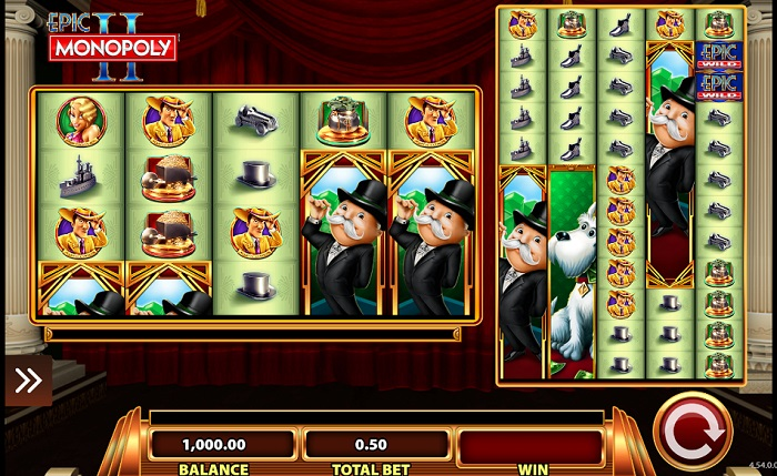 Epic Money slots screenshot with Mr Monopoly