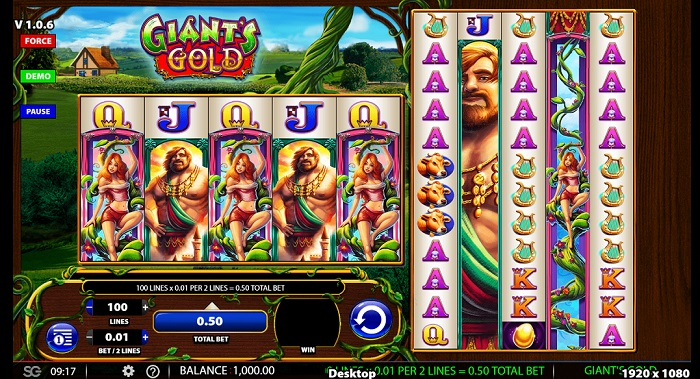 Giant's Gold Online Slot WMS