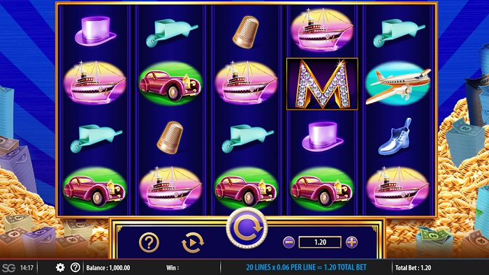 Monopoly Big Money Reel Online Slot WMS
