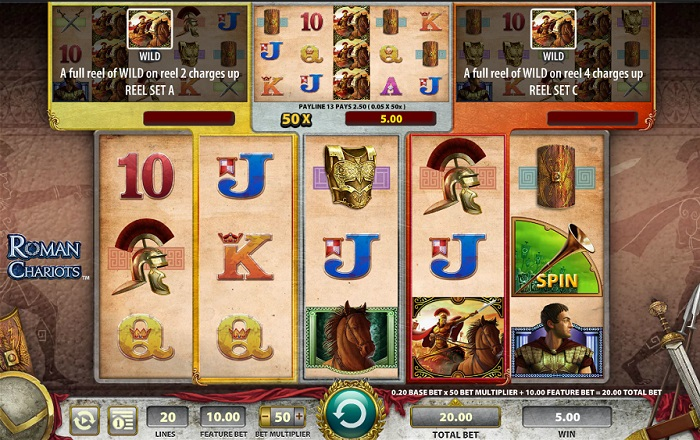 Roman Chariots Online Slot WMS