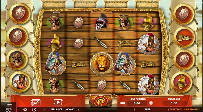 Spartacus Call to Arms Slots