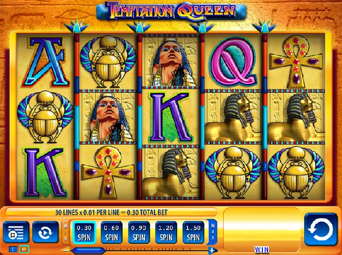 Screenshot of Temptation Queen 5-reel slots