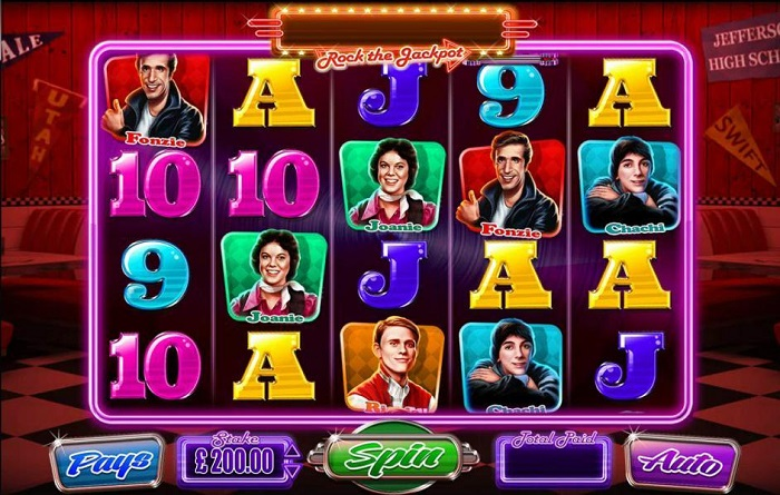 Happy Days Online Slot WMS