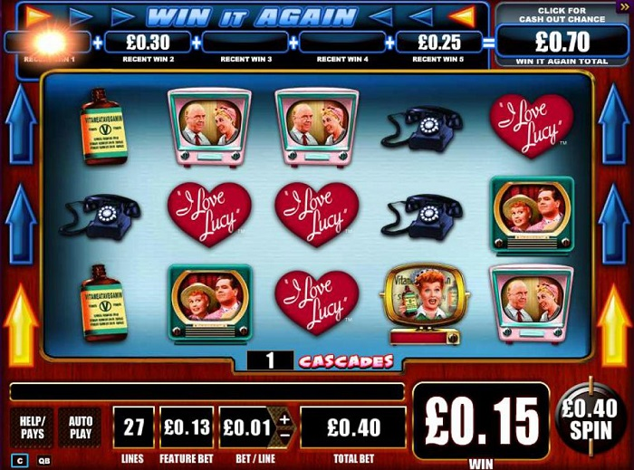 I Love Lucy Online Slot WMS