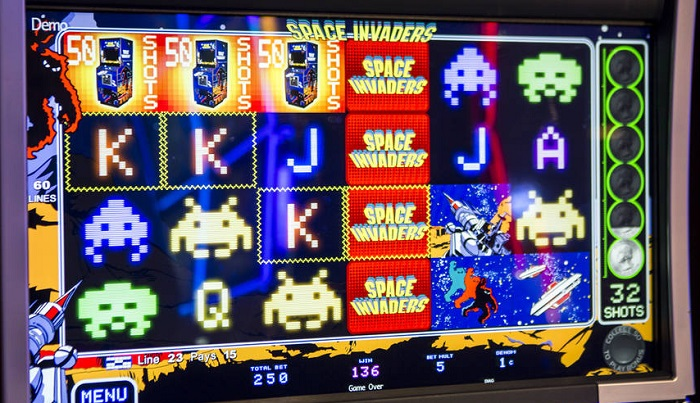 Space Invaders Slots WMS