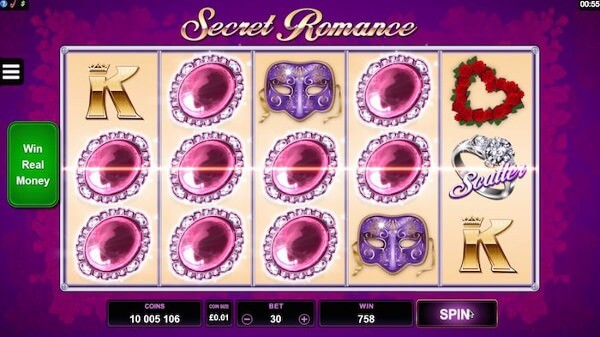 Secret Romance Slots Microgaming