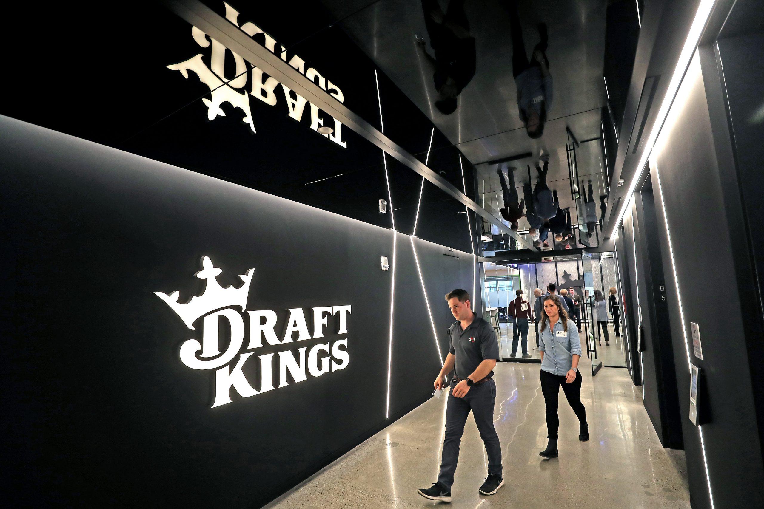 Sportsbook operator DraftKings main office hallway in Boston