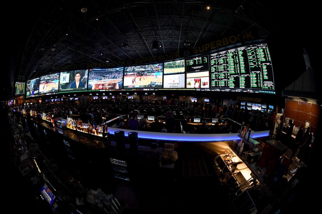 photo of a sports betting book in Las Vegas