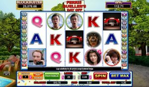 Screenshot of Ferris Bueller's Day Off slots with five reels