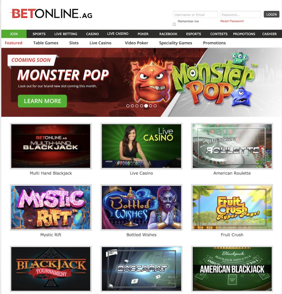 betonline casino games