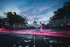Capitol Building in Washington D.C. at dusk