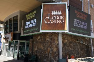 Sign for the Lodge Casino in Colorado