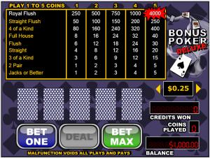 mobile bonus poker deluxe