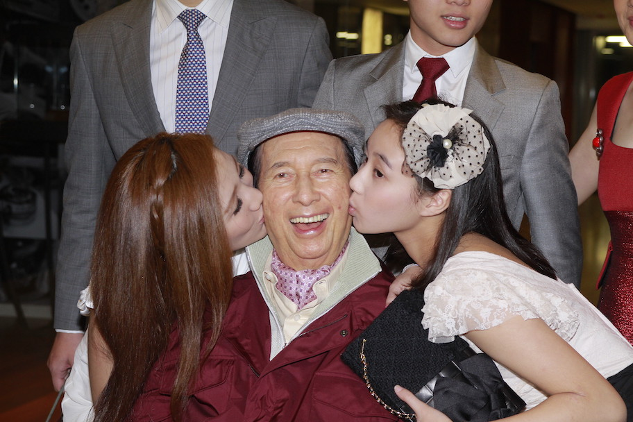stanley ho, stanley ho and daughters at 98 birthday party