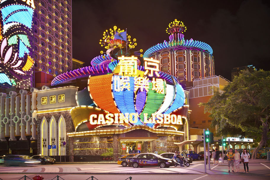 stanley ho owned casio, casino lisboa in macau, china