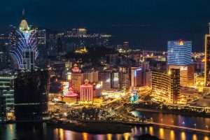 macau casino at night, casinos post massive loss