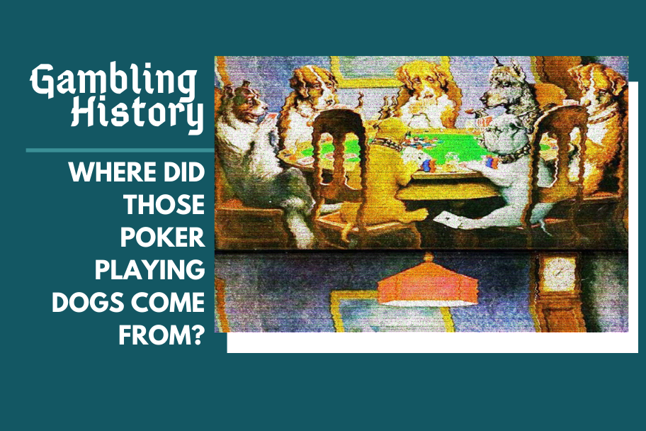 the story behind those dogs playing poker, dogs playing poker picture