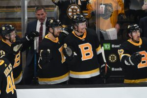 boston bruins, Sean Kuraly #52 and Brett Ritchie #18 of the Boston Bruins, stanley cup odds