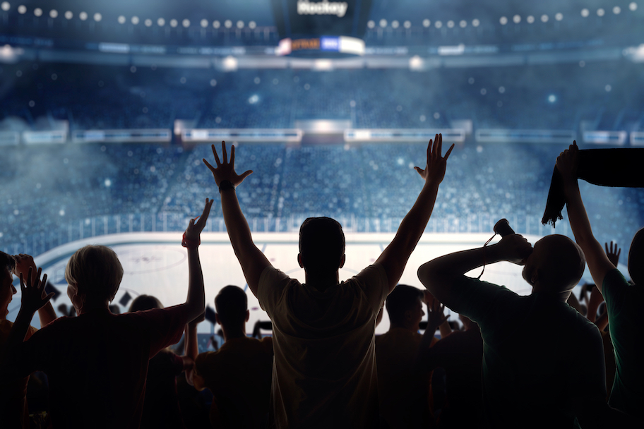 fans cheering at a hockey game, nhl returns and stanley cup odds 2020