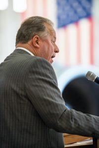 california senator bil dodd d-napa speaking in front of american flag, bill dodd sports betting bill faces push back