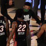 Giannis congratulates Miami Heat