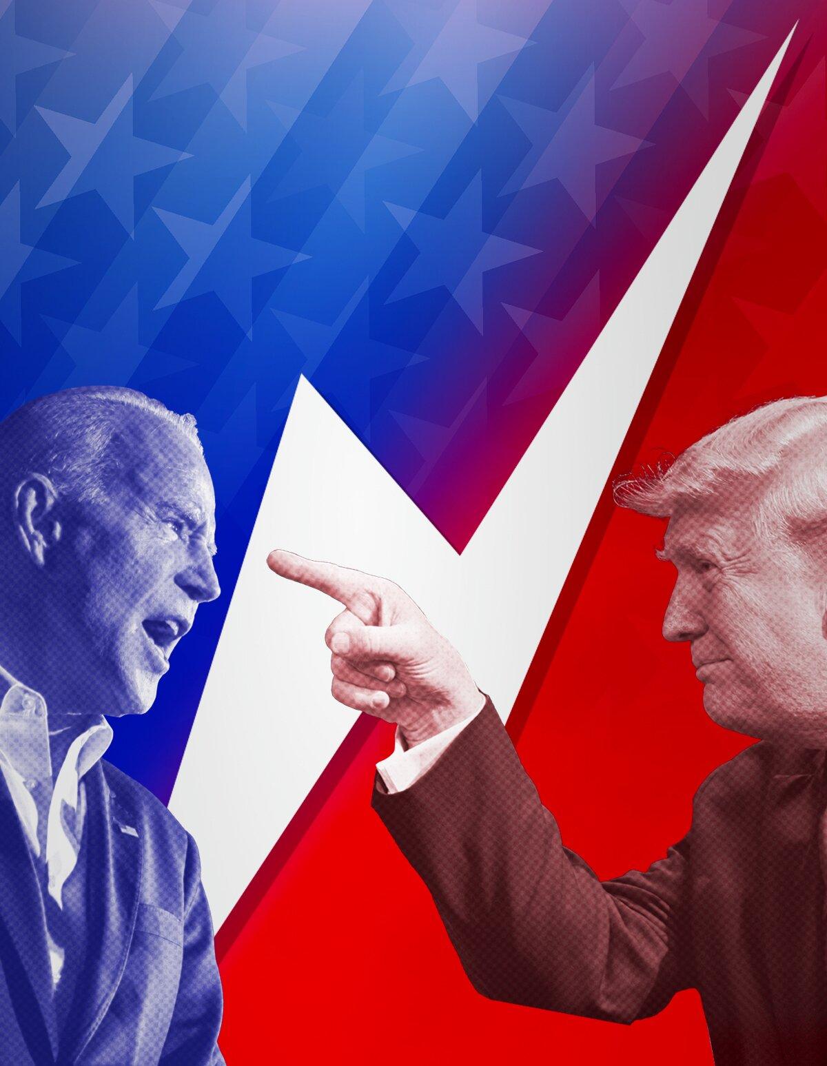 Tump vs Biden facing off mobile