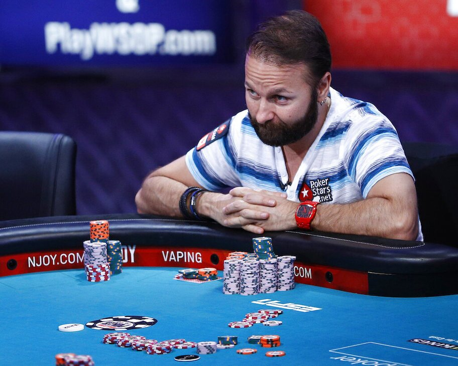 daniel negreanu playing poker at WSOP