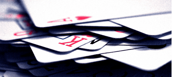 pile of poker playing cards