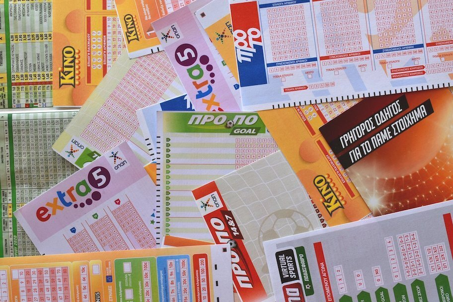 pile of lottery tickets and gambling tickets
