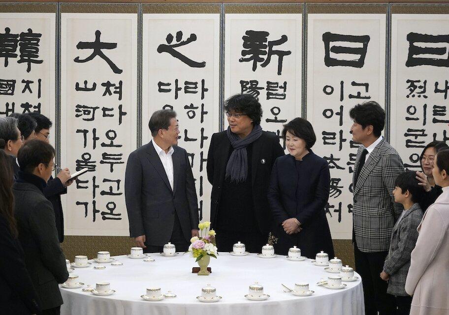 director Bong Joon-ho meets with South Korean President Moon Jae-in