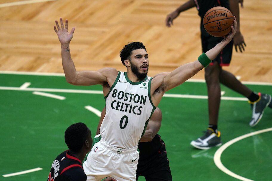 Permainan bermain Boston Celtics Jayson Tatum di Boston