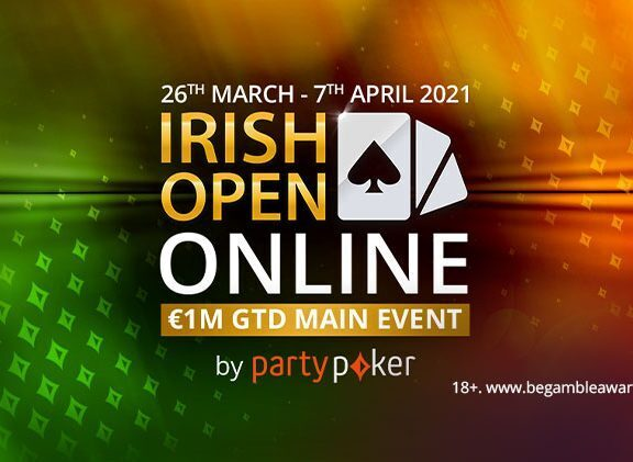 Irish Open Online Returns to Partypoker from March 26th