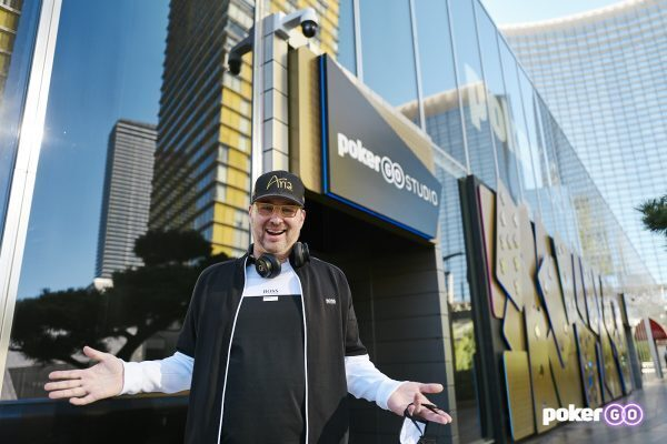 Phil Hellmuth outside ARIA in Las Vegas
