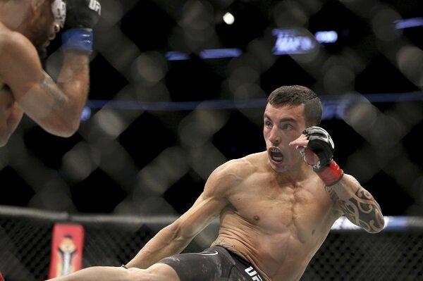Thomas Almeida throws a kick