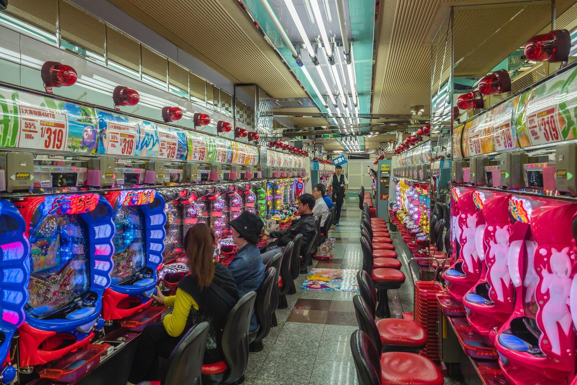japan slot machines at gambling hall
