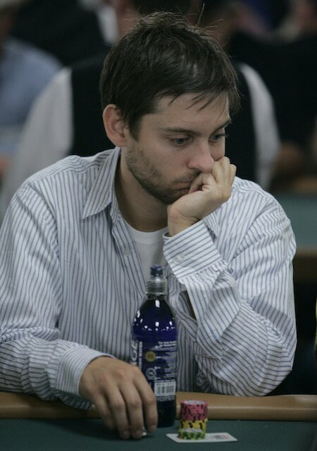 tobey maguire playing poker at wsop