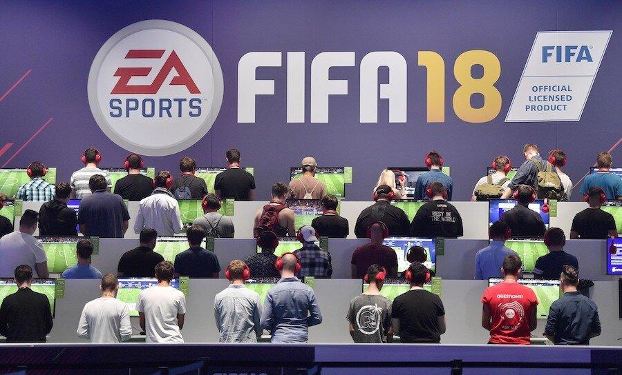 esports tournament players playing fifa esports