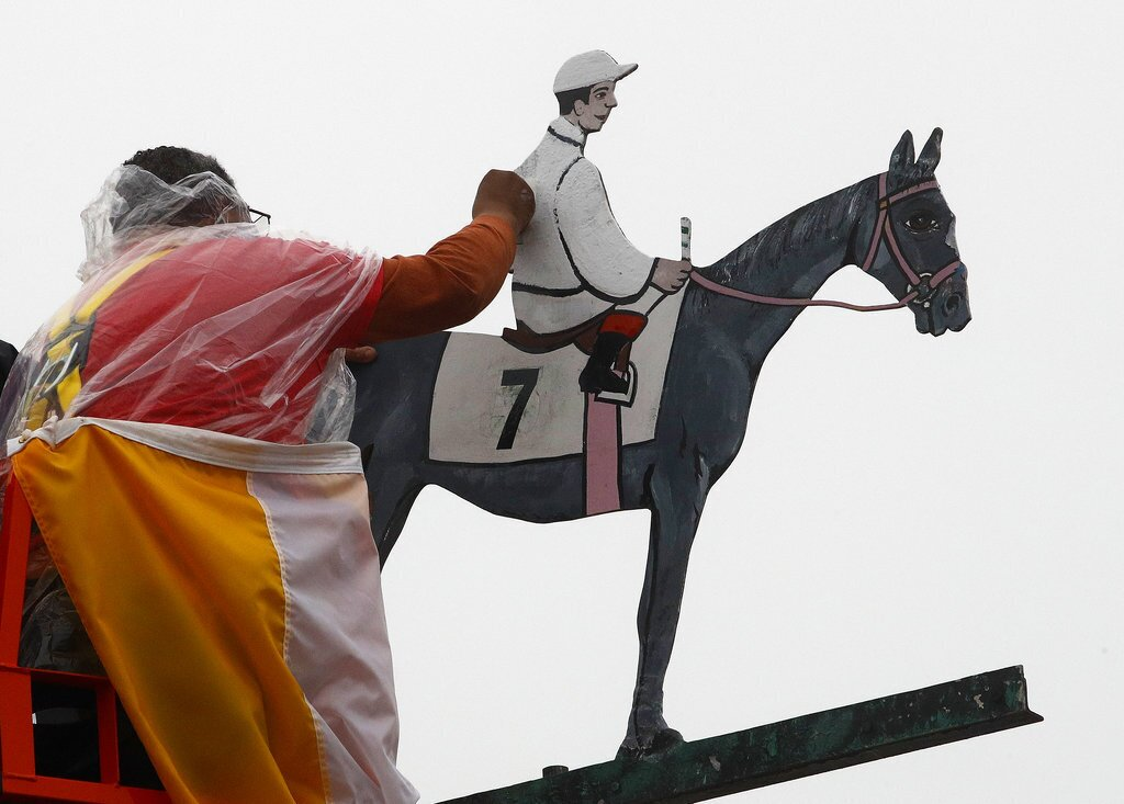 Pimlico Preakness Stakes Weather Vane Painted