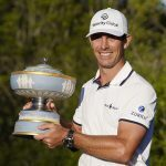 Billy Horschel poses with Match Play trophy