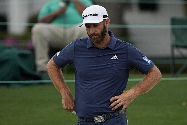 Dustin Johnson ponders a golf shot