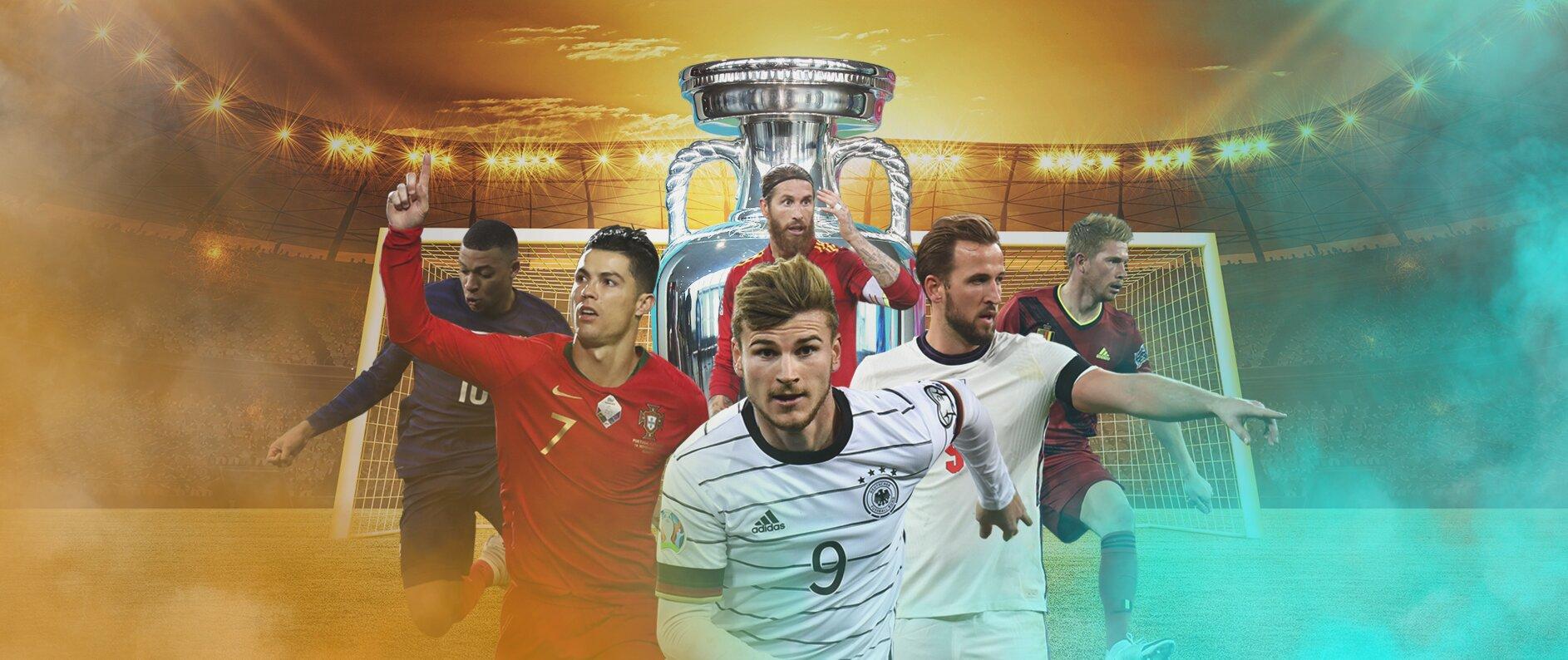 EM 2021 Spieler und Pokal