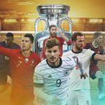 EM 2021 Pokal und Spieler