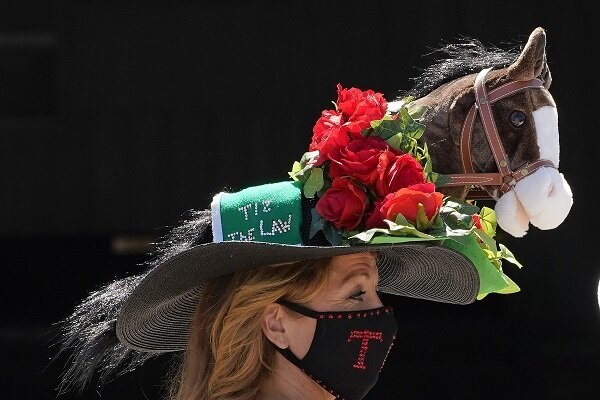A unique hat at the Kentucky Derby