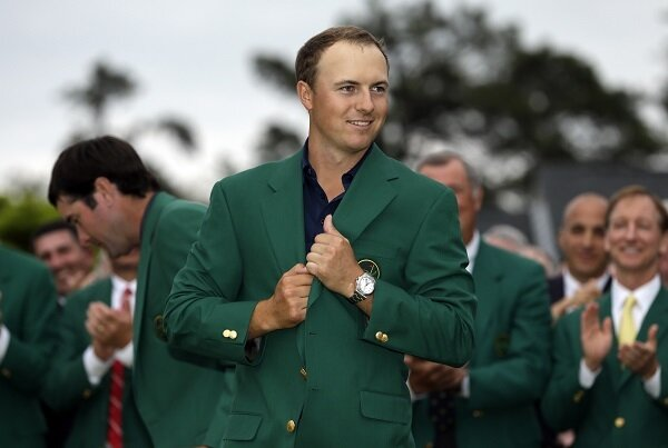Jordan Spieth wears the Green Jacket