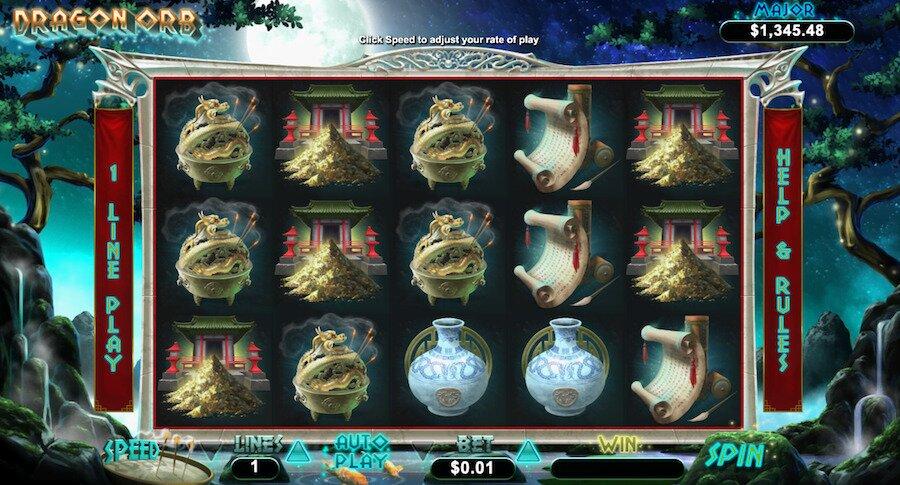 dragon orb slot game screenshot