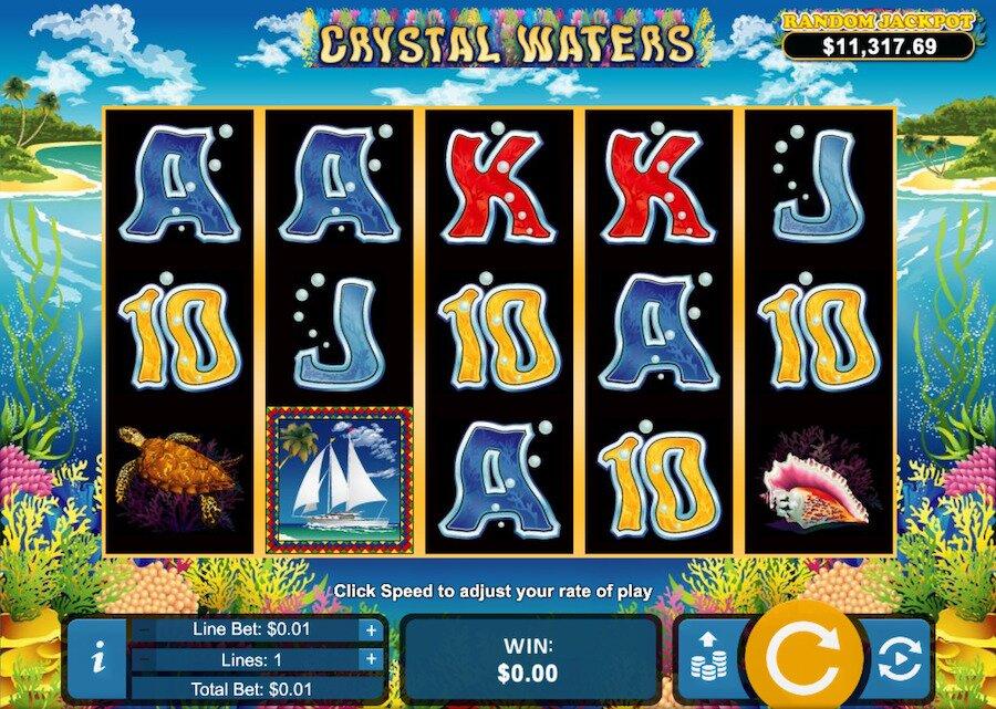 crystal waters slot machine game